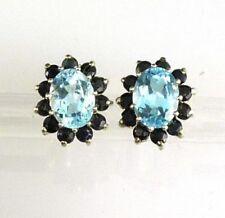 Orecchini di lusso farfalline blu argento