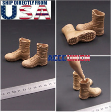 """1/6 Military Combat Boots SAND For 12"""" Hot Toys Male Figure U.S.A. SELLER"""