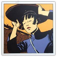 Affiche Sérigraphie Hugo Pratt Corto Maltese Shanghai Li 50x50 cm