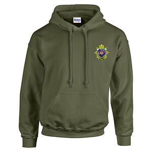 Royal Corps of Transport Embroidered Hoodie - Hooded Sweatshirt - Military Green