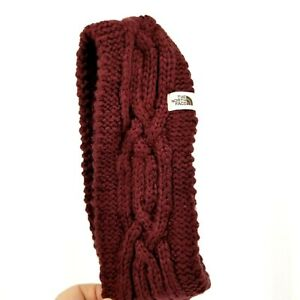 THE NORTH FACE Woman's Cable Minna Earband Deep Garnet Red New $34