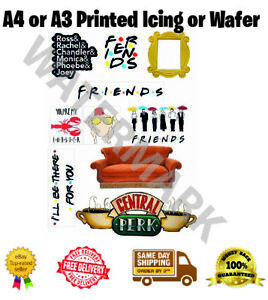 Friends Central Perk Icing Cake Topper Cupcake Wafer A4 and A3 Sheet