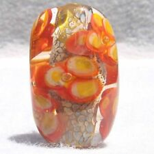 BLOSSOMANIA #2 Handmade Art Glass Focal Bead Flaming Fools Lampwork Art Glass