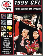 1999 CFL Canadian Football League Facts, Figures & Records GUIDE