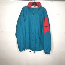 The North Face Men's Vintage USA Made Blue/Red Rain Parka Hooded Jacket Sz XL