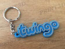 Porte clés / Keychain PVC souple Twingo monogramme logo coffre bleu/blue