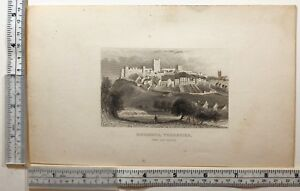 1822 DATED ANTIQUE PRINT ~ CASTLE HOWARD NORTH WEST VIEW YORKSHIRE