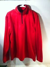 Starter Pullover Mens Size L (42-44)- 1/4 Zipper-Red-Free Ship-Vgc