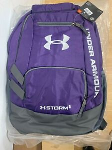 Men's Under Armour Team Hustle Storm Backpack purple(1272782-001)Brand New w/tag