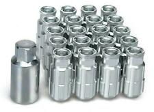 20x SILVER D1 Alloy Locking Wheel Nuts (M12x1.5)+ tool fits HYUNDAI COUPE