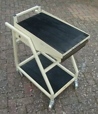 More details for vintage scope trolley oscilloscope cart w/ castors  heavy duty for instruments