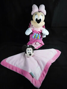 Disney Babies Minnie Mouse w/ Blanket + Minnie Mouse Lovey Security Blanket