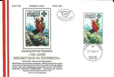 AUSTRIA.. MOUNTAIN RESCUE FIRST DAY COVER.. 1996..