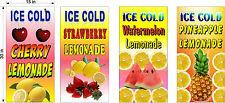 "4 PACK 15"" X 30""  VINYL BANNERS STRAWBERRY WATERMELON PINEAPPLE CHERRY LEMONADE"