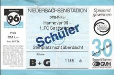 Ticket DFB-Pokal 94/95 Hannover 96 - 1. FC Saarbrücken, Stehplatz Schüler