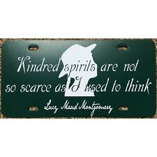 Anne of Green Gables License Plate  Kindred Spirits Quote Car Tag