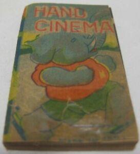 Old Pre War Japan Paper Toy Hand Cinema Motion Flip Book w/ Dancing Elephant