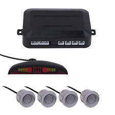 LED Silver Car Display Parking Reverse 4 Sensor Kit Backup Radar Monitor System