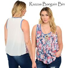 New Ladies Singlet Style Top With Free Necklace Plus Size 16/1XL (1041)OG