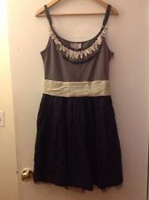 Baraschi Anthropologie Gray & Black Sheath Dress, Size 6