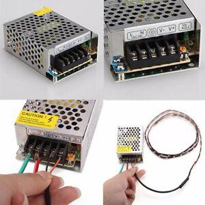 AC 110V-220V DC 12V LED Power Supply Switch Driver Strip Bulb Light Transformer