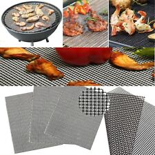 BBQ Grill Mesh Non-Stick Mat Reusable Teflon Sheet Resistant Barbecue Meat UK
