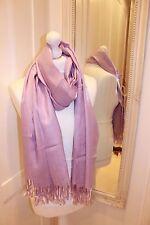 Lilac Pashmina Silk Shawl Scarf Wrap Summer Handmade Gift Fine Knit Wool Soft