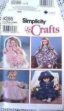 9286 SEWING PATTERN~UNCUT~AMERICAN GIRL&BITTY BABY&BABY DOLL CLOTHES in3 SIZES