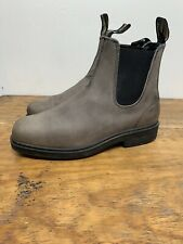 Blundstone Super 550 Rustic Leather Steel Gray Chelsea Boots US 8.5 AU 7.5