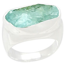 Aquamarine Rough 925 Sterling Silver Ring Jewelry S.6 AQRR273