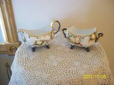 Creamer & Sugar Gilt Gold Handpainted Rose Royal Floral Pattern W.G. Co Limoges