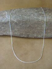 "Southwestern Jewelry Sterling Silver Snake Chain Necklace 16"" Long x 1MM"