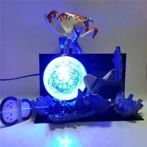 Naruto Minato VS Obito Rasengan Led Night Light Luminaria Novelty Lamp
