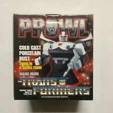 Hard Hero Transformers Prowl Cold Cast Porcelain Bust Hasbro