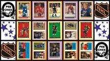 1989 O-Pee-Chee NHL Hockey Sticker Complete Set of 270 Joe Sakic Linden Rookie