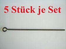 5 x Zelthering Schraubhering 72 cm Erdnagel Erdhaken Erdanker Hundpflock Schäkel