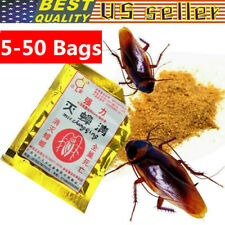 5-50 Bags Insecticide Cockroach Powder Killing Bait Effective Pest Roach Control