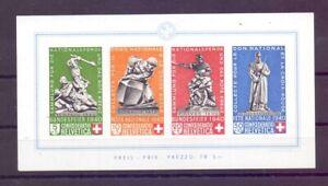 Schweiz Pro Patria 1940 - Block 5 mit minimalen Gummi-Einschränkungen (613)