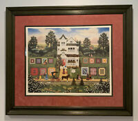 Framed Wooster Scott Lithograph Quigley's Quality Quilts Signed Lim Ed #291/1375