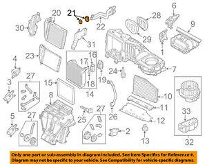 VW VOLKSWAGEN OEM Passat Evaporator Heater-Heater Core Gasket Set 561898380