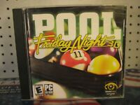 Friday Night 3D Pool PC 2003 CD-ROM Virtual Pool Game