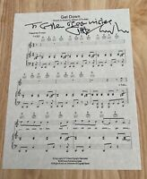 GILBERT O'SULLIVAN Autographed Signed Sheet Music Lyrics ~ GET DOWN
