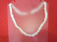 White Shell Heishi 22-in Necklace