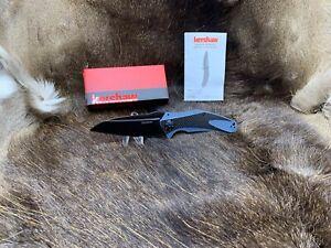 """Kershaw 5"""" Carbon Fiber Natrix XL Sub-Frame Lock Blue / Black Knife Mint In Box"""