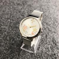 2019 New Design Stainless steel Quartz Mesh belt Flower  Wristwatches Bear Watch
