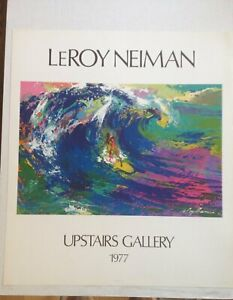 Leroy Neiman Corky Carol Surfing 1977 Original Poster 23 x 27