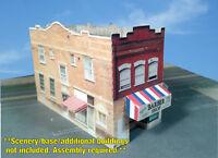 N Scale Building - Multi Purpose Main Street Building - Pre Cut Card Stock Kit