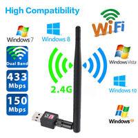 Mini 150Mbps 802.11n/g/b USB WiFi Wireless Network LAN Card Adapter w/Antenna DS
