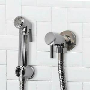 Pro Chrome Muslim Shataff Bidet Douche Hand Shower Toilet Spray Brass Kit Head