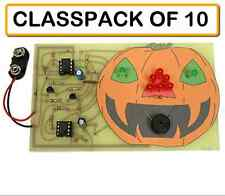 (CLASSPACK OF 10) K-6783 HAUNTED PUMPKIN KIT with LIGHTS and SOUND